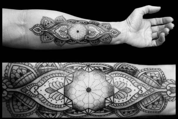 Γεωμετρικά τατουάζ από τον Chaim Machlev (1)