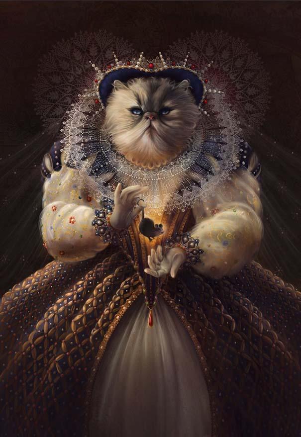 Ιστορικές φιγούρες αντικαθιστώνται από γάτες και σκύλους (1)