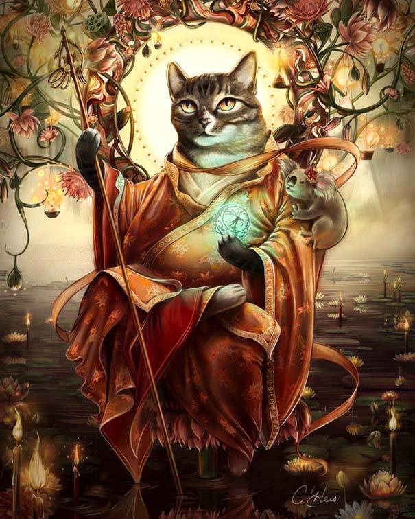 Ιστορικές φιγούρες αντικαθιστώνται από γάτες και σκύλους (2)