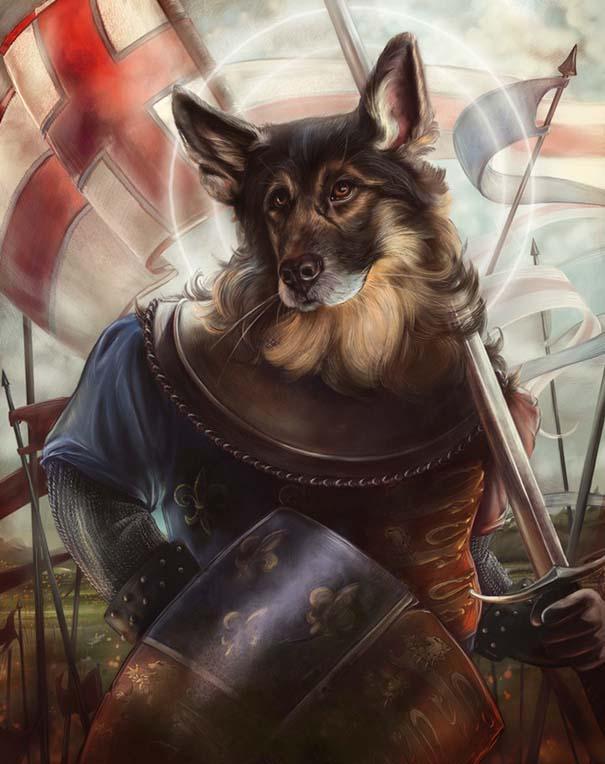 Ιστορικές φιγούρες αντικαθιστώνται από γάτες και σκύλους (5)