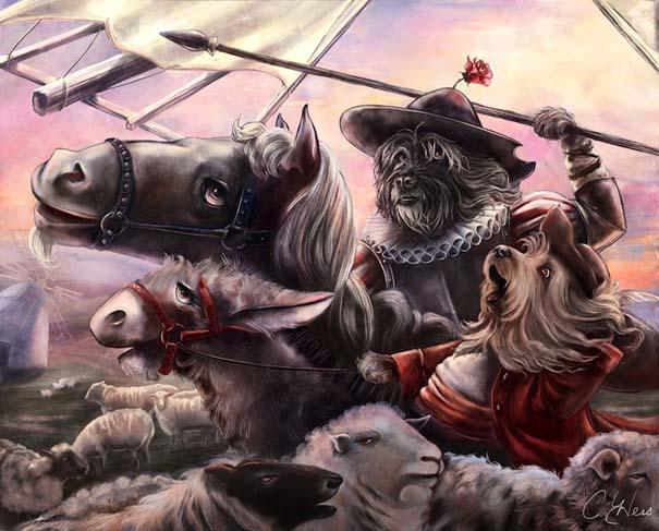 Ιστορικές φιγούρες αντικαθιστώνται από γάτες και σκύλους (13)