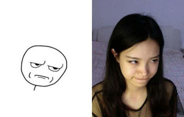 Ένα κορίτσι που μπορεί να κάνει όλες τις γκριμάτσες του Internet (4)