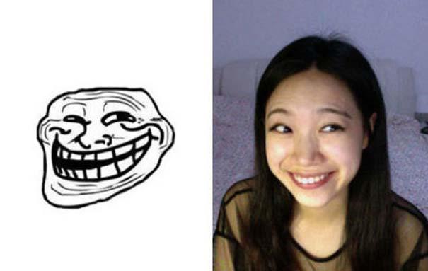 Ένα κορίτσι που μπορεί να κάνει όλες τις γκριμάτσες του Internet (12)