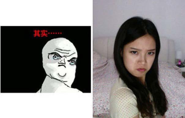 Ένα κορίτσι που μπορεί να κάνει όλες τις γκριμάτσες του Internet (23)