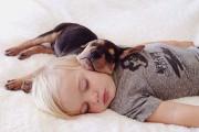 Μωρό κοιμάται με το 2 μηνών κουτάβι του κάθε μέρα (13)