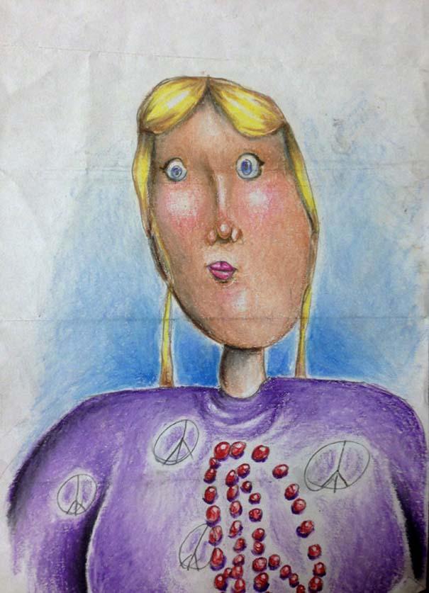 Πατέρας χρωματίζει τις ζωγραφιές των παιδιών του (1)