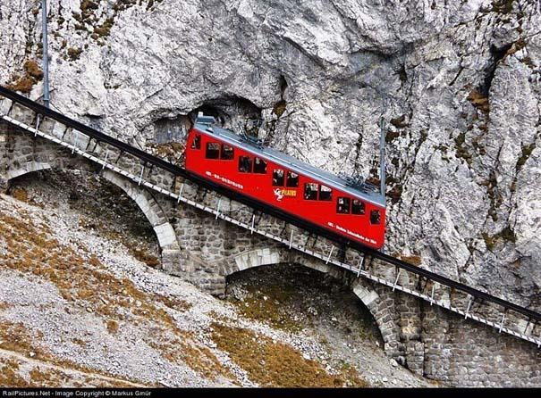 Ο πιο απότομος οδοντωτός σιδηρόδρομος στον κόσμο με 48% κλίση (2)