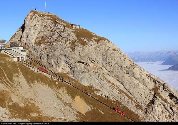 Ο πιο απότομος οδοντωτός σιδηρόδρομος στον κόσμο με 48% κλίση (4)