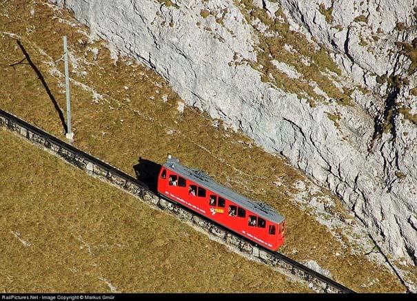 Ο πιο απότομος οδοντωτός σιδηρόδρομος στον κόσμο με 48% κλίση (5)