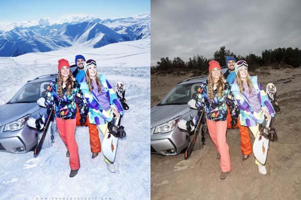 Η πραγματικότητα πίσω από μια χειμερινή φωτογράφιση μόδας (1)