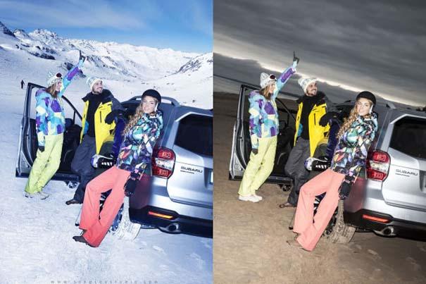 Η πραγματικότητα πίσω από μια χειμερινή φωτογράφιση μόδας (2)