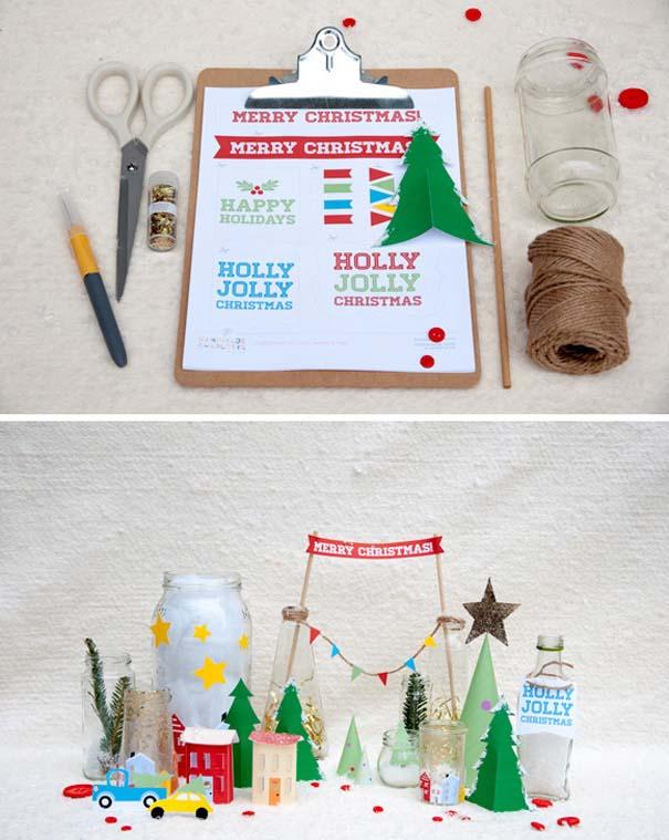 Πρωτότυποι χειροποίητοι Χριστουγεννιάτικοι στολισμοί (36)