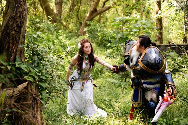 Ζευγάρι έκανε γάμο World Of Warcraft (3)