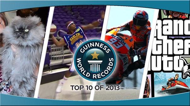 Τα 10 κορυφαία ρεκόρ Guinness του 2013