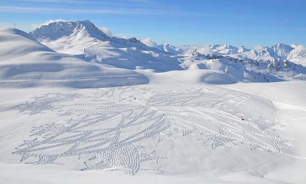 Απίστευτα σχέδια μεγάλης κλίμακας στο χιόνι (1)