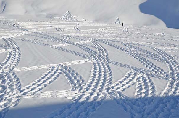 Απίστευτα σχέδια μεγάλης κλίμακας στο χιόνι (2)