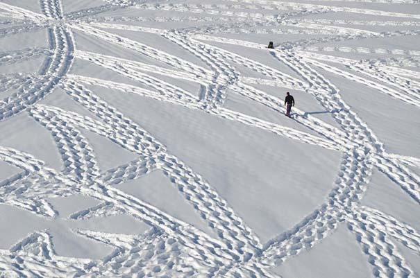 Απίστευτα σχέδια μεγάλης κλίμακας στο χιόνι (3)