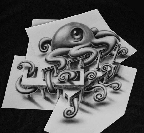 Εκπληκτικές 3D ζωγραφιές που «βγαίνουν» απ' το χαρτί (6)