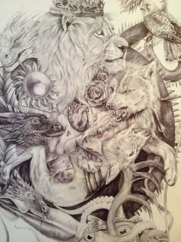 Η εξέλιξη ενός καλλιτέχνη από 9 έως 18 ετών (12)