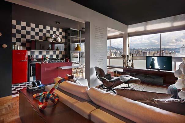 Εντυπωσιακό και γεμάτο χρώμα loft στη Βραζιλία (1)