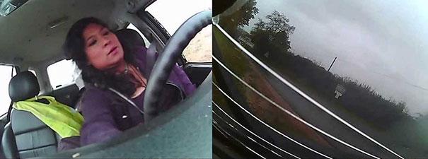 Γυναίκα οδηγός μένει εντελώς ατάραχη σε τρομακτικό τροχαίο