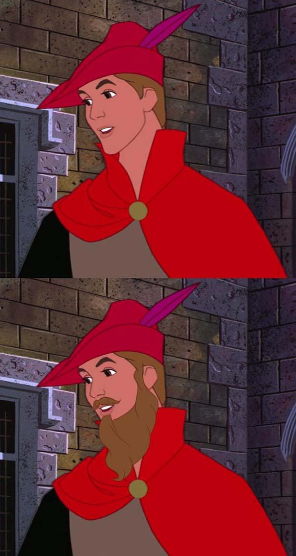 `Ήρωες της Disney με και χωρίς μούσι (9)