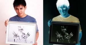 Καλλιτέχνης δημιουργεί αρνητικά σκίτσα που φαίνονται μόνο με αντιστροφή χρωμάτων