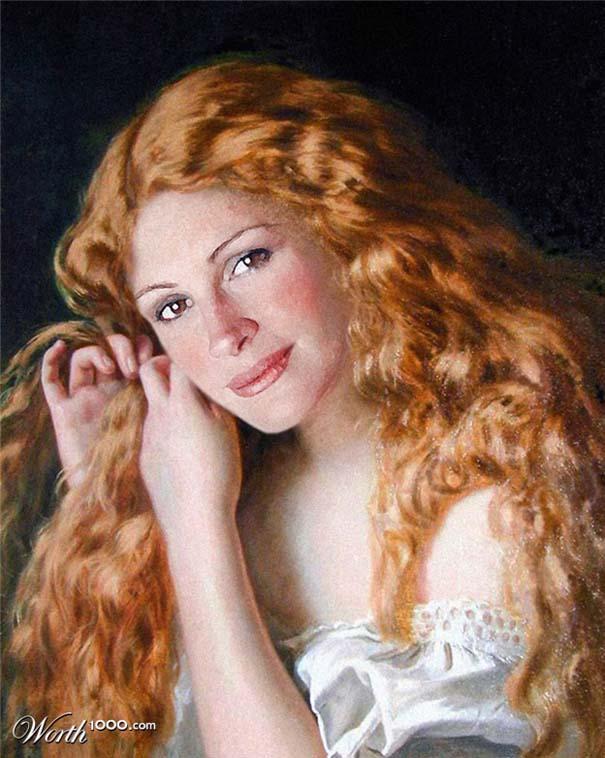 Κλασσικοί πίνακες ζωγραφικής με σύγχρονους celebrities (5)