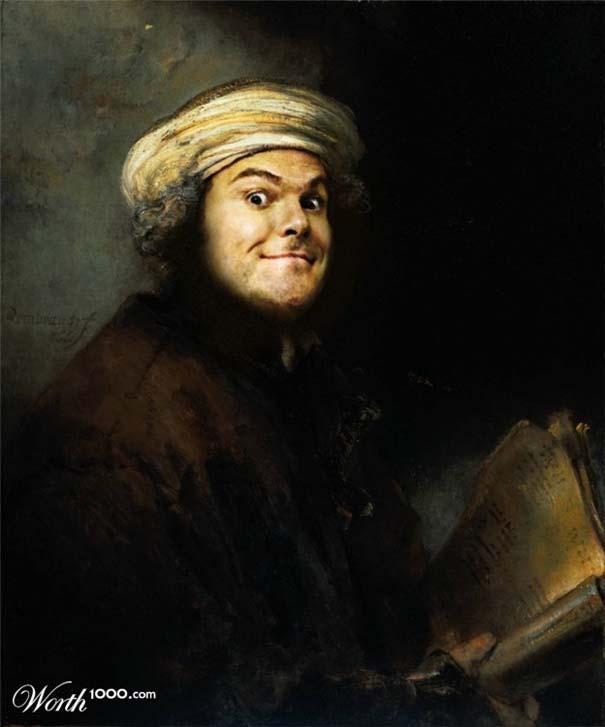 Κλασσικοί πίνακες ζωγραφικής με σύγχρονους celebrities (8)