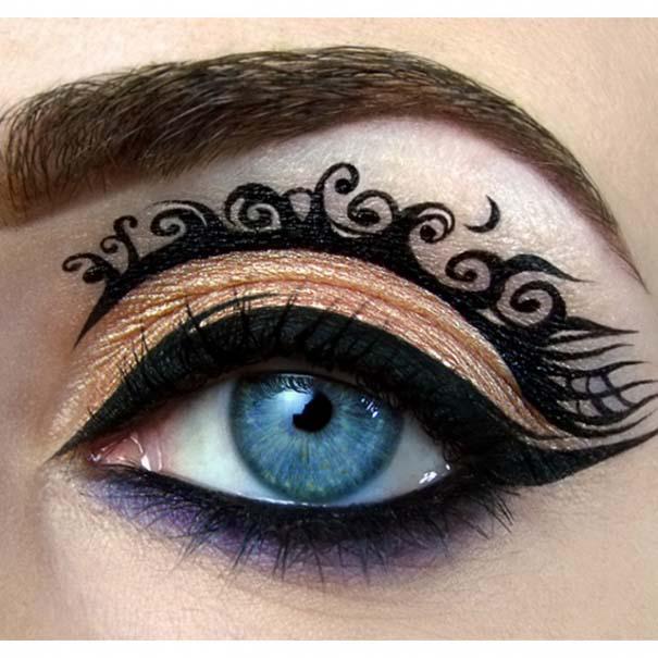Αποτέλεσμα εικόνας για περιεργα μακιγιαζ ματιων