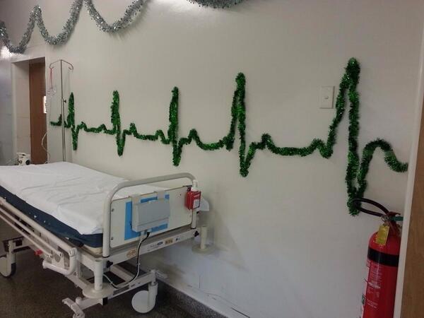 Χριστουγεννιάτικος στολισμός σε νοσοκομείο | Φωτογραφία της ημέρας