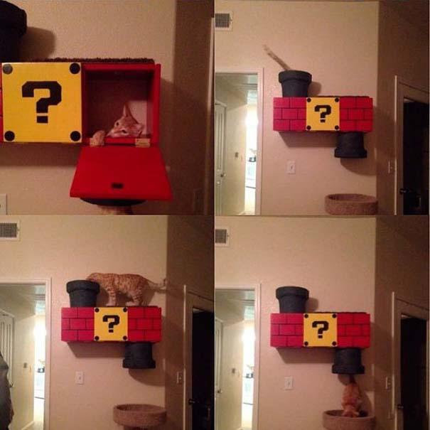 Ράφι για γάτα εμπνευσμένο από τον Super Mario (9)