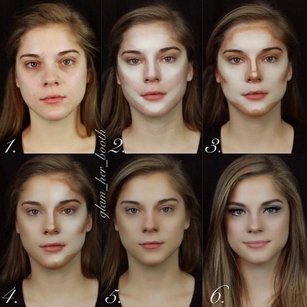 Βήμα βήμα μια υπέροχη μεταμόρφωση με μακιγιάζ (2)