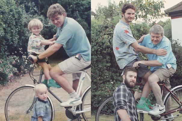 Δυο αδέρφια σε ξεκαρδιστική αναπαράσταση παιδικών φωτογραφιών (8)