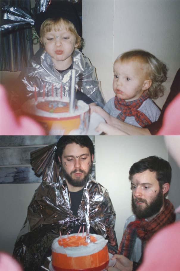 Δυο αδέρφια σε ξεκαρδιστική αναπαράσταση παιδικών φωτογραφιών (6)