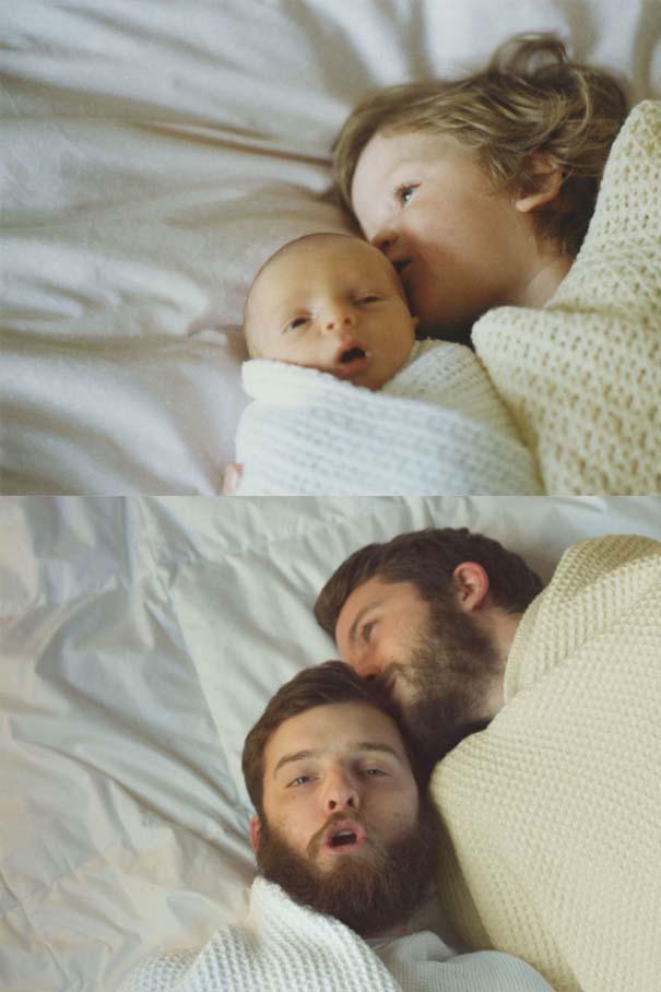 Δυο αδέρφια σε ξεκαρδιστική αναπαράσταση παιδικών φωτογραφιών (3)