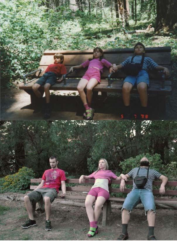 3 αδέρφια ξαναζούν την παιδική τους ηλικία μέσω αναπαράστασης των φωτογραφιών τους (1)