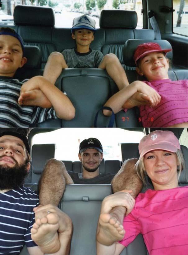 3 αδέρφια ξαναζούν την παιδική τους ηλικία μέσω αναπαράστασης των φωτογραφιών τους (6)
