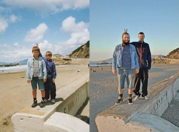 3 αδέρφια ξαναζούν την παιδική τους ηλικία μέσω αναπαράστασης των φωτογραφιών τους (8)