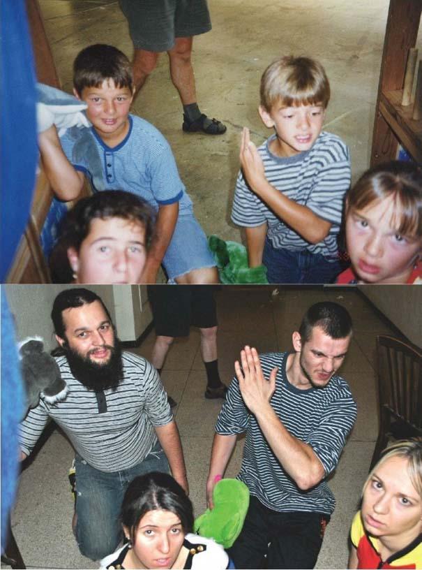 3 αδέρφια ξαναζούν την παιδική τους ηλικία μέσω αναπαράστασης των φωτογραφιών τους (9)