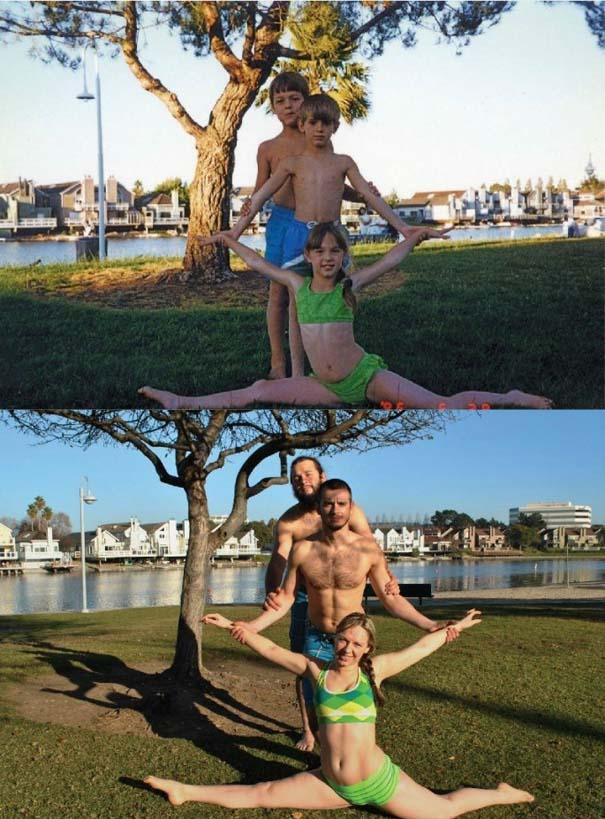 3 αδέρφια ξαναζούν την παιδική τους ηλικία μέσω αναπαράστασης των φωτογραφιών τους (10)