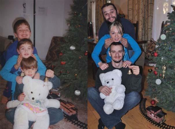 3 αδέρφια ξαναζούν την παιδική τους ηλικία μέσω αναπαράστασης των φωτογραφιών τους (12)