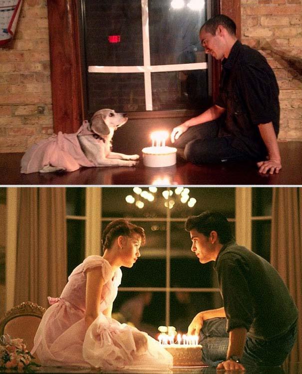 Ξεκαρδιστική αναπαράσταση ταινιών από έναν άνδρα και το σκύλο του (4)