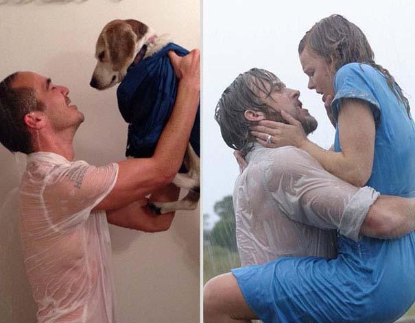 Ξεκαρδιστική αναπαράσταση ταινιών από έναν άνδρα και το σκύλο του (6)
