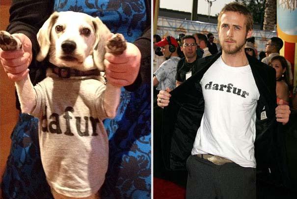 Ξεκαρδιστική αναπαράσταση ταινιών από έναν άνδρα και το σκύλο του (7)