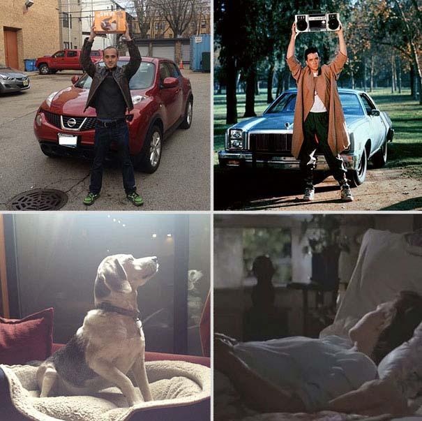 Ξεκαρδιστική αναπαράσταση ταινιών από έναν άνδρα και το σκύλο του (10)