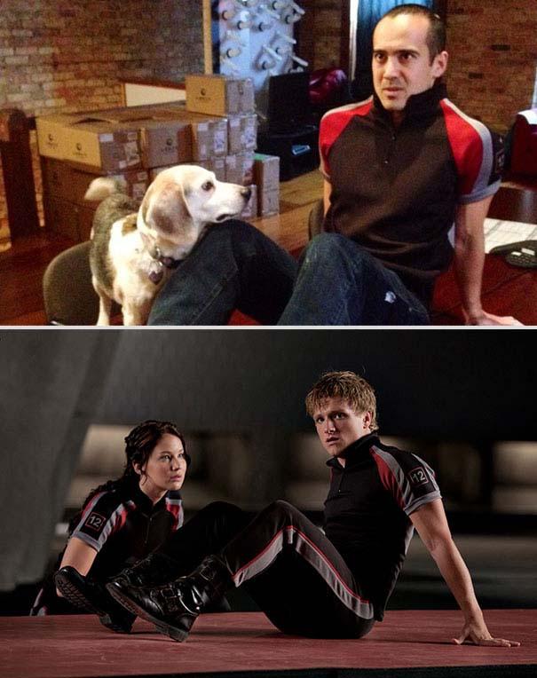Ξεκαρδιστική αναπαράσταση ταινιών από έναν άνδρα και το σκύλο του (11)