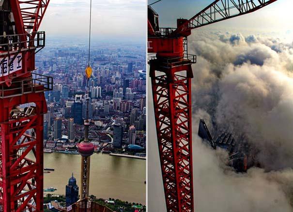 Χειριστής γερανού βγάζει απίστευτες φωτογραφίες από το 2ο ψηλότερο κτήριο του κόσμου (14)