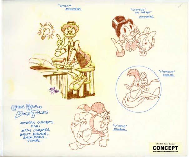Αρχικά σχέδια διάσημων Cartoon (1)