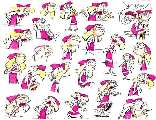 Αρχικά σχέδια διάσημων Cartoon (9)